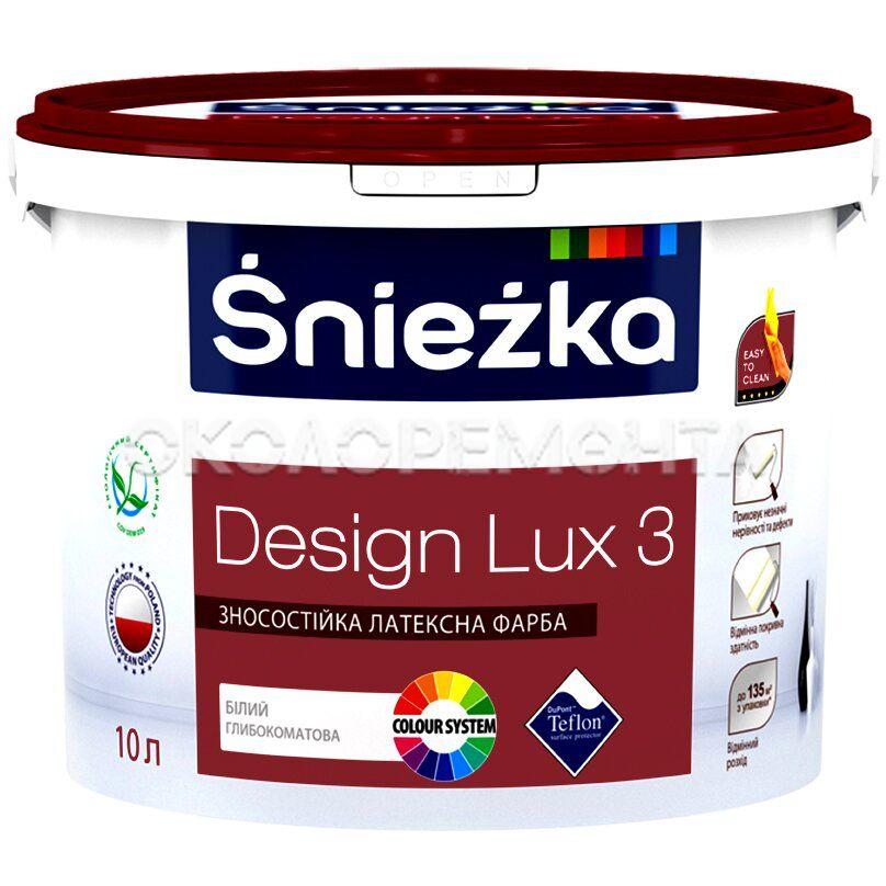 Краска латексная для интерьеров Sniezka Design Lux